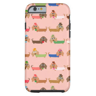 Dachshunds on Pink Tough iPhone 6 Case
