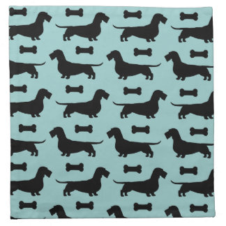 Dachshunds Pattern (Wirehaired Doxies) Napkin