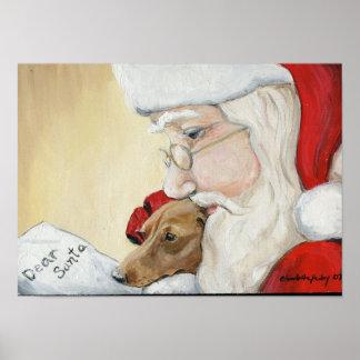 Dachshund's Request for Santa Canvas Print