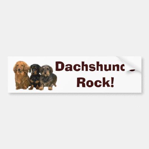 Dachshunds Rock Bumper Sticker