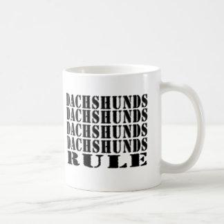 dachshunds rule coffee mug