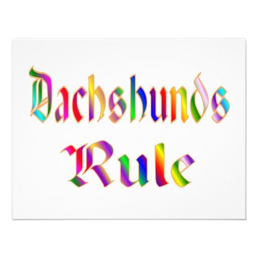 Dachshunds Rule Invitations