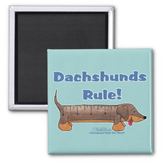 Dachshunds Rule Fridge Magnets
