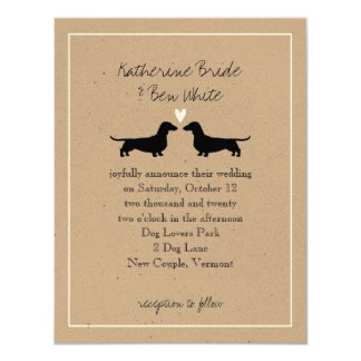 Dachshunds Wedding Invitation