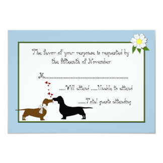 Dachshunds Wedding Response Card 9 Cm X 13 Cm Invitation Card