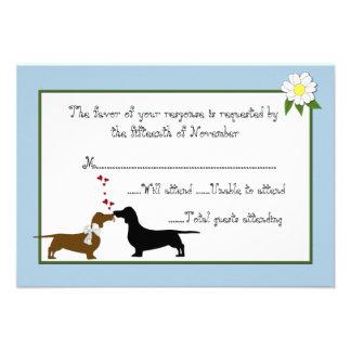 Dachshunds Wedding Response Card Custom Invites