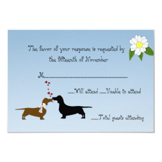 Dachshunds Wedding Response Card Invitations