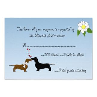 Dachshunds Wedding Response Card Invitations