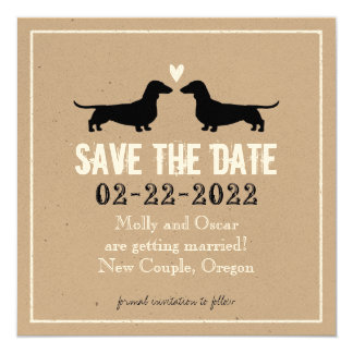 Dachshunds Wedding Save the Date Card