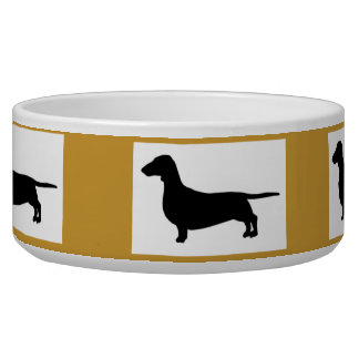 Dachund Design Bowl Dog Food Bowl