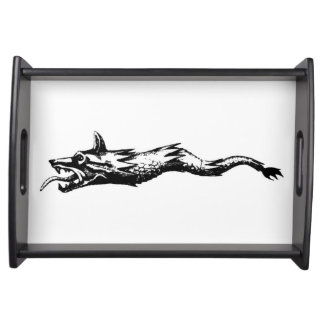 dacia wolf snake flag history romania symbol dacs serving tray