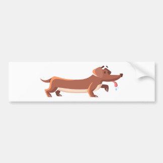 Dackel sausage dog bumper sticker