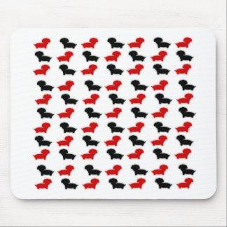 Dacshund logo mouse pad