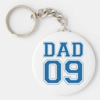 Dad 2009 - Blue Basic Round Button Key Ring