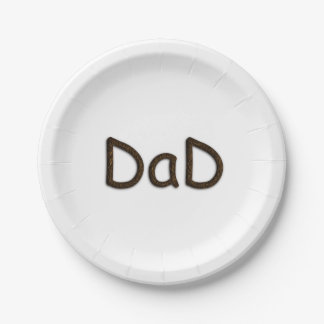 Dad 7 Inch Paper Plate