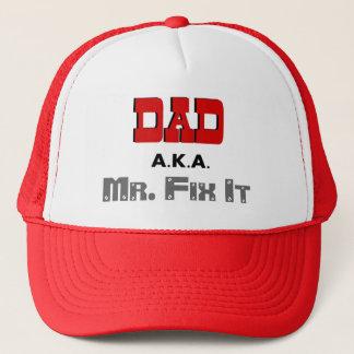 Dad AKA Mr. Fix It Novelty Trucker Hat