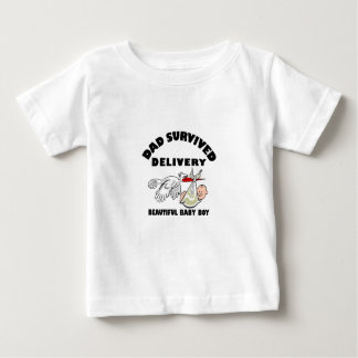 Dad and beautiful baby son baby T-Shirt