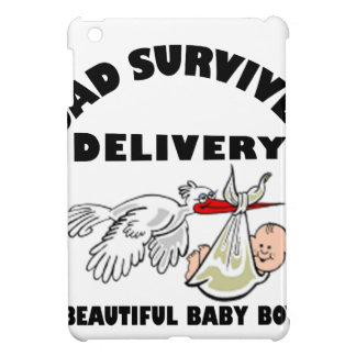 Dad and beautiful baby son iPad mini cover