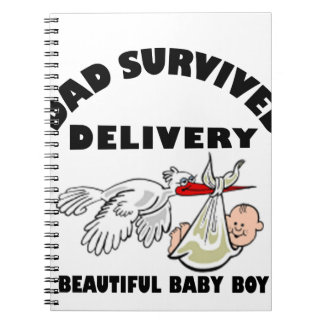 Dad and beautiful baby son notebooks