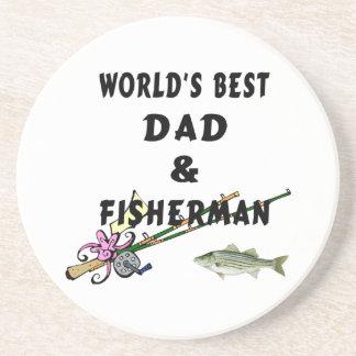 Dad And Fisherman Beverage Coasters