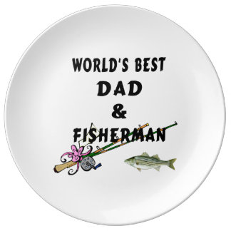 Dad and Fishing Porcelain Plates