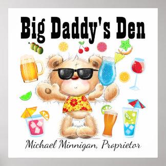 Dad / Bar / Man Cave Cocktail Poster