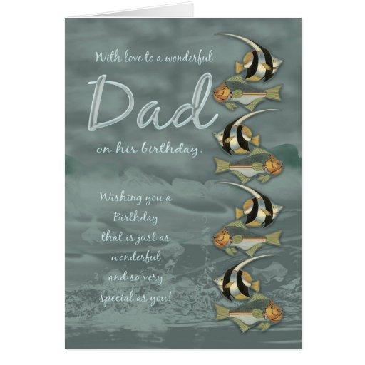 Dad Birthday Card With Fish