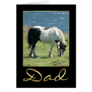 Dad Birthday Card With Horse And Sea View