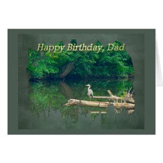 Dad Birthday Morning at the Creek Card