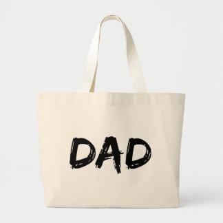 Dad Brush Black Canvas Bags