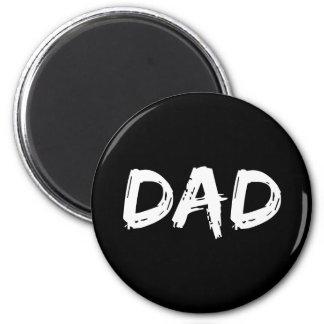 Dad Brush White 6 Cm Round Magnet