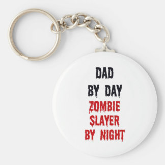 Dad By Day Zombie Slayer By Night Basic Round Button Key Ring