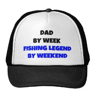 Dad by Week Fishing Legend By Weekend Mesh Hat
