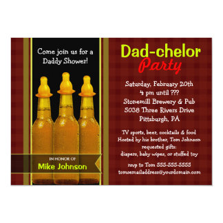 Dad-chelor Party - Daddy Baby Shower Invitations