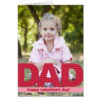 DAD Custom Valentine s Day Photo Card Cards