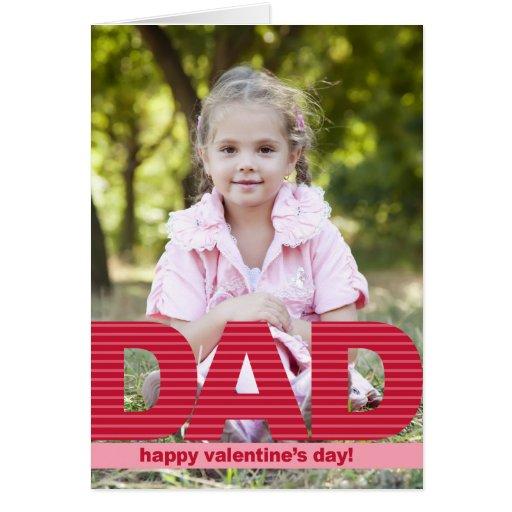 DAD Custom Valentine's Day Photo Card Cards