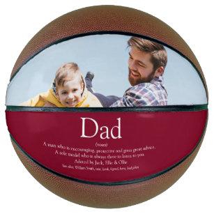 Dad Daddy Father Papa Definition Photo Burgundy Basketball