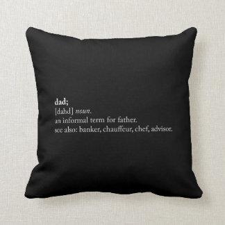 Dad - Dictionary Definition Cushion