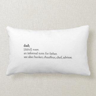 Dad - Dictionary Definition Lumbar Pillow