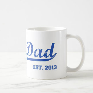 DAD EST. 2013 NEW DADDY BABY FATHER'S DAY GIFT COFFEE MUG