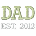 Dad Established 2012 (customisable) Embroidered Hooded Sweatshirts