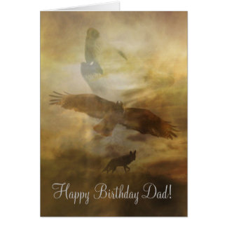 Dad, Father Happy Birthday Card Spiritual Timeless