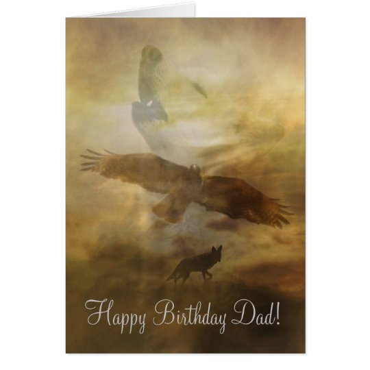 Dad, Father Happy Birthday Card Spiritual Timeless