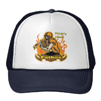 Dad Fathers Day Football Gifts Trucker Hat