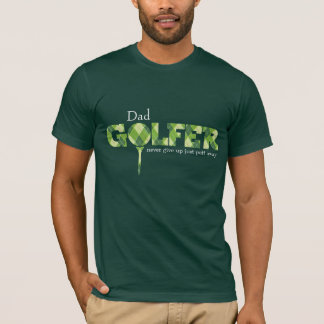 Dad Golfer tee argyle patterned green t-shirt