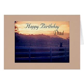 DAD-HAPPY BIRTHDAY=HORSE LOVER'S BIRTHDAY GREETING CARD