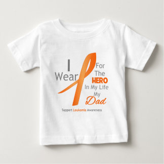 Dad - Hero in My Life - Leukemia Tee Shirt
