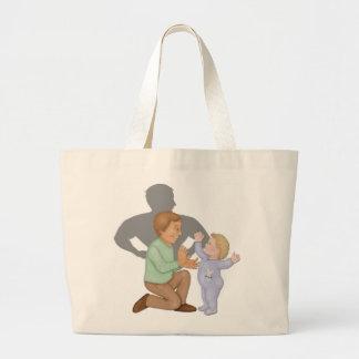Dad Hero Jumbo Tote Bag