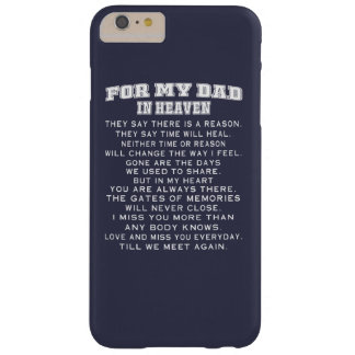 DAD IN HEAVEN BARELY THERE iPhone 6 PLUS CASE