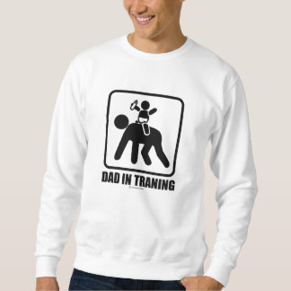 Dad in training sweatshirt